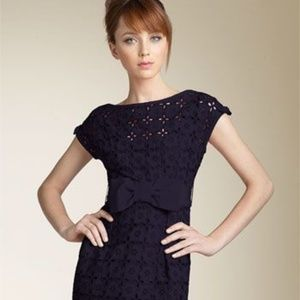 Nanette Lepore Blue Floral Eyelet Dress Size 4
